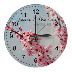 Peace Cherry Blossoms Wall Clocks