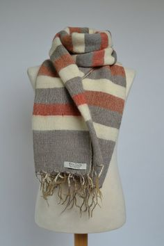 100% YAK Wool Striped Blanket/Hand-Woven by MayaCraftsOriginal