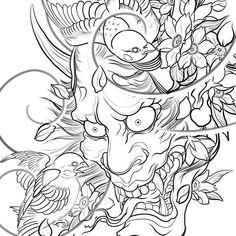 japanese tattoos meaning Japanese Tattoo Art, Japanese Tattoo Designs, Tattoo Designs Men, Hannya Mask Tattoo, Dibujos Tattoo, Sparrow Tattoo, Asian Tattoos, Japan Tattoo, Oriental Tattoo