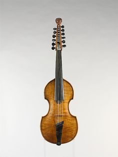 Mid-18th century Austrian mute viola d'amore. The lack of openings in the soundbox would dampen the instrument's resonance, leading to a quieter sound – hence the name.