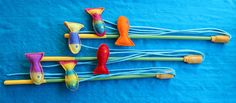 This hardy, yet beautiful cat wand will keep your cat playing for hours and last for years. The wool, felted fish are full of cat nip and a Diy Cat Toys, Homemade Cat Toys, Cat Dog Cartoon, Kitten Toys, Kittens, Felt Fish, Guinea Pig Toys, Felt Cat, Pet Furniture