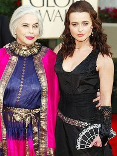 "There's No Better Date Than Mom! | HELENA BONHAM CARTER | The fashionable duo arrived together at the 2003 Globes, where Bonham Carter was nominated for her role in Live from Baghdad. She later honored her mother in a speech at the 2011 BAFTAS, saying, ""This is for all the best supporting wives – the Queen Mother herself, and my mum. There is no doubt that if my father were alive, he would have given it to her. She was the best supporting wife you could ever have wished for."""