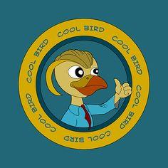 Cartoon puffin bird