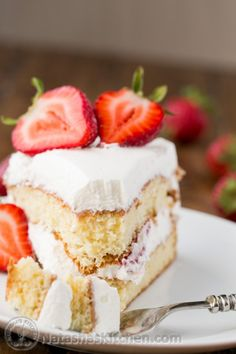 The famous moist Tres Leches Cake is now a two-layered cake perfect for any special occasion! @natashaskitchen
