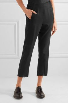 Ann Demeulemeester - Cropped Wool Straight-leg Pants - Black - FR