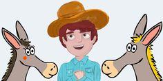 La mula, el asno y el campesino. Cuento infantil sobre la envidia - tucuentofavorito.com