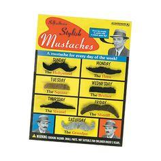 Stylish Fake Mustaches Costume Set | Toys & Novelties | RetroPlanet.com