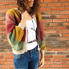 Cardigan Pattern, Knit Cardigan, Crochet Woman, Knit Crochet, Knit Fashion, Fashion Outfits, Big Knits, Evening Outfits, Work Casual