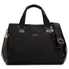 Arrive with purpose and style with chic and functional tote, crafted with a double entry zip compartments on the topside for easy organization on the go!
