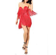 7e73c5e52d Long Fringe Flapper Dress - Prima Dons   Donnas