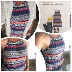 Skies Are Blue - Henlow Knit Halter Top for StitchFix. June 2015 Fix