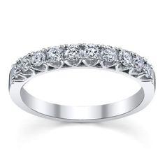 Divine 14K White Gold Diamond Wedding Ring 1/2 ct tw