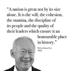 lee kuan yew quotes - Google Search