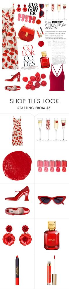 """red"" by elisalunardelli ❤ liked on Polyvore featuring LSA International, Hourglass Cosmetics, Essie, Miu Miu, Mignonne Gavigan, John Lewis, Lipstick Queen and Stila"