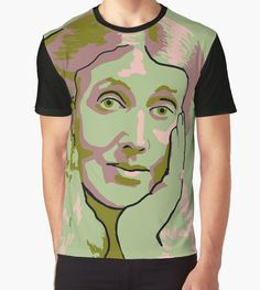 Virginia Woolf graphic t-shirt by savantdesigns