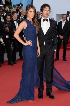 The newlyweds brought their style sense to Cannes, mastering the navy and black colour combination on the red carpet.