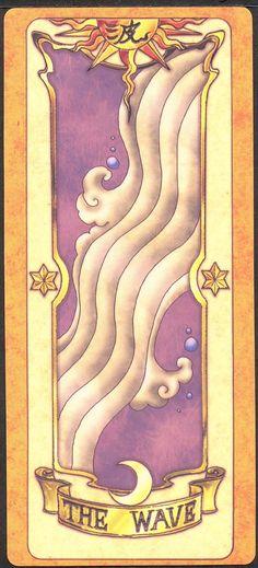 The Wave (Onda) - Não existe um episódio onde mostra esta carta sendo capturada. No episódio 36, Kero pega as Cartas Clow dizendo que Sakura tinha capturado várias nas férias, e entre as cartas estava The Wave. Pelo que li, essa carta permite formar ondas na água.