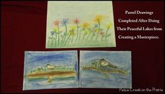 Pastel Drawings Completed After Doing Their Peaceful Laskes from creating a Masterpiece