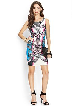Stand out in this sleeveless bodycon dress features a bold ornate print and exposed back zipper. Holiday Outfits, Summer Outfits, Summer Dresses, Summer Fashions, Stylish Dresses, Cute Dresses, Latest Fashion For Women, Womens Fashion, Going Out Outfits