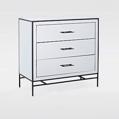 Mirrored 3 Drawer Dresser Westelm