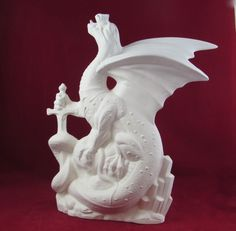 "Dragon Ashcatcher 12/"" Ceramic Bisque Ready to Paint"