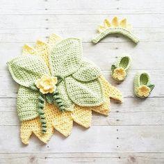 Crochet Baby Princess Tiana Inspired Dress Bow Headband Shoes Set Costume Dress Up Handmade Disney Inspired Baby Shower Gift…