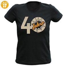 Damen T-Shirt mit Motiv zum 40. Geburtstag - 40 Jahre - Geschenk - Oberteil - Shirts zum 40 geburtstag (*Partner-Link)