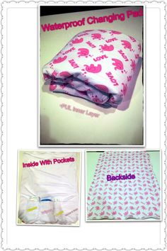 Waterproof changing pads with pockets