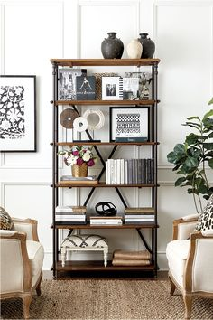 Most Neglected Fact About Shelf Decor Living Room Bookshelf Styling Revealed - waddenhome Bookshelves In Living Room, Decorating Bookshelves, Bookshelf Styling, Bookshelf Design, Bookshelf Ideas, Bookcases, Bookshelves For Small Spaces, Black Bookshelf, Rustic Bookshelf