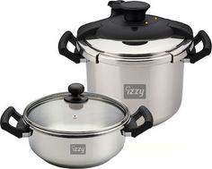 Izzy Multi Set 8Lt+4Lt, Cookware - Skroutz.gr Rice Cooker, Slow Cooker, Cookware, Crock, Kitchen Appliances, Diy Kitchen Appliances, Diy Kitchen Appliances, Kitchen Gadgets, Healthy Slow Cooker