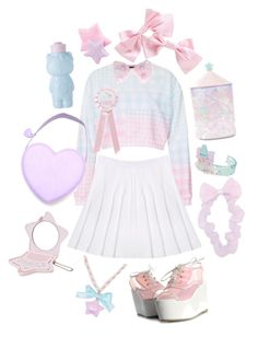 """""""pastel sweetheart"""" by adolie ❤ liked on Polyvore featuring Topshop"""