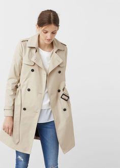 Classic cotton trench coat - Coats for Women | MANGO USA