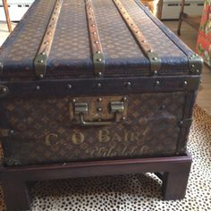 Louis Vuitton trunk coffee table - dreaming