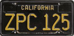 """Old California license plates - """"California Black Plate car"""" was a bragging right (before the reissue). In cold states, the roads are/were salted, leading to rust. http://www.autoblog.com/2015/06/26/black-gold-california-license-plates-return-after-50-years/"""