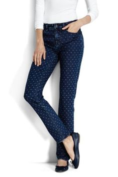 Women's+Mid+Rise+Slim+Jeans+from+Lands'+End