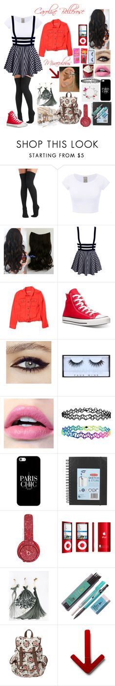 """""""Miraculous Ladybug OC: Caroline Bellerose"""" by silentdoll ❤ liked on Polyvore featuring Betsey Johnson, Old Navy, Converse, Huda Beauty, Accessorize, Casetify, Beats by Dr. Dre and Design House Stockholm"""