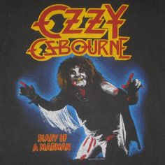 I had this tour jersey and went as Ozzy on the album cover for Halloween in 8th grade!