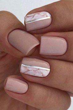 Bridal Nails Designs, Bridal Nail Art, Gel Nail Art Designs, Bridal Makeup, Simple Bridal Nails, Wedding Makeup, Simple Gel Nails, Neutral Nail Designs, Cute Simple Nails