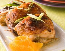 Bev's Orange Chicken:  This has to be one of the easiest recipes ever. Chicken is roasted in a flavorful orange sauce. It is great with chicken thighs or breasts, bone-in or not. You can't go wrong!