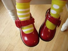 adorable!  Every little girl needs red shoes!  with white polka dots would be even better!!!<3