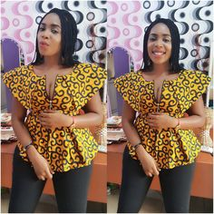"""306 Likes, 35 Comments - Ajibola Bimbo (@honeybimbzcouture) on Instagram: """"Sitting pretty in our Readytowear Cape peplum top available in size 8-16#available for pick up &…"""""""