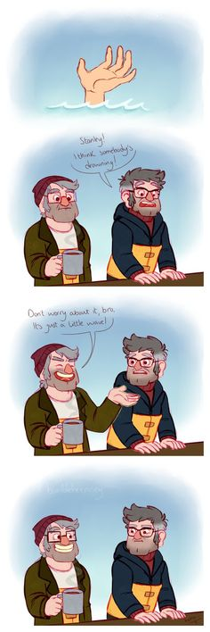 The choice was obvious, but quite painful. The glasses reminded Stan of happy childhood and lost chances. And somehow helped him to go on. tumblr