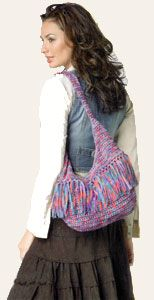 Love to crochet and love hobo bags.  I like the fact that it has a zipper closure.  Not sure about the fringe though.