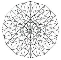 Mandalas para colorear, una divertida forma dedecirle adiós alestrés Mandala Coloring, 2 Colours, Easy To Draw Flowers, Shapes, Creativity, Manualidades