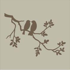 Stencils Two Birds on Branch Stencil Design / by SuperiorStencils, $19.95