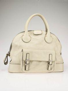 32e6be8ef92 Chloe Ivory Edith Large Bowler Satchel Bag