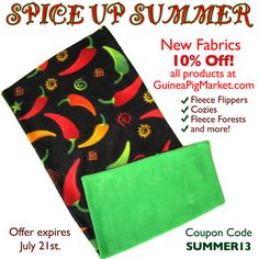 Spicy Fleece at www.GuineaPigMarket.com