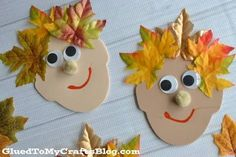 Silly Leaf Hair - Kid Craft It's FUN fall themed kid craft idea that anyone can pull together! Check out our Silly Leaf Hair tutorial to be inspired! Thanksgiving Crafts For Toddlers, Easy Fall Crafts, Crafts To Make, Quick Crafts, Fall Preschool Activities, Preschool Crafts, Kids Crafts, Preschool Kindergarten, Kids Diy