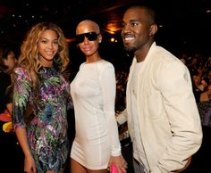 Beyonce, Amber Rose, Kanye West