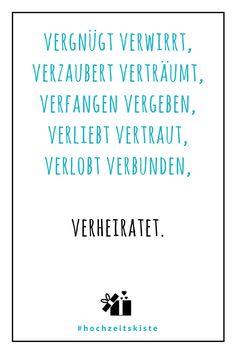 Ist der nicht der perfekte Vers für eine Hochzeitskarte? #Hochzeitsspruch